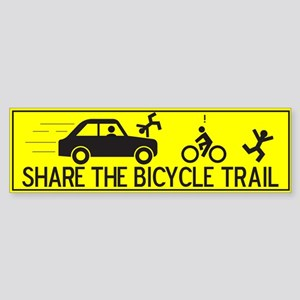 Share The Bicycle Trail Bumper Sticker