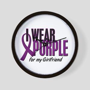 I Wear Purple For My Girlfriend 10 Wall Clock