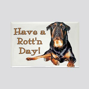 Rottweiler Rott'n Day Rectangle Magnet