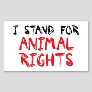 Animal rights Rectangle Sticker