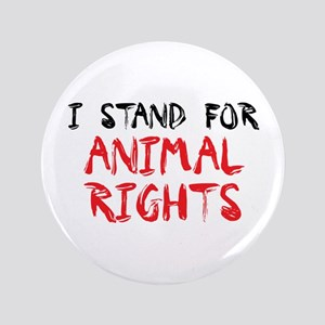"""Animal rights 3.5"""" Button"""