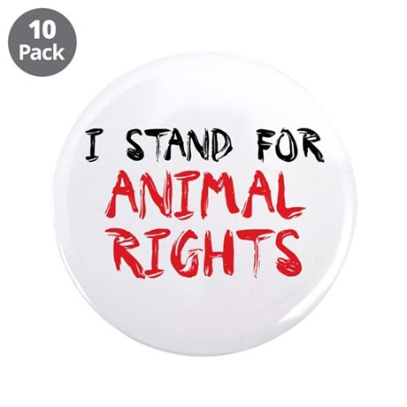 """Animal rights 3.5"""" Button (10 pack)"""