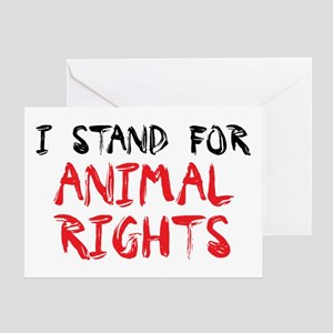 Animal rights Greeting Card