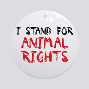 Animal rights Ornament (Round)