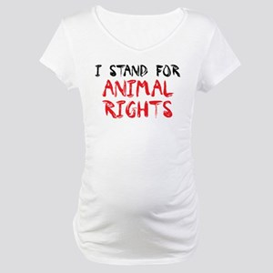 Animal rights Maternity T-Shirt