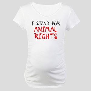 Animal rights Maternity T-Shirt