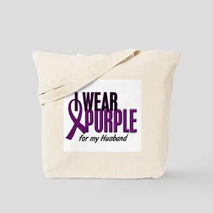 I Wear Purple For My Husband 10 Tote Bag