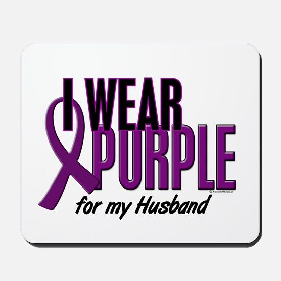 I Wear Purple For My Husband 10 Mousepad