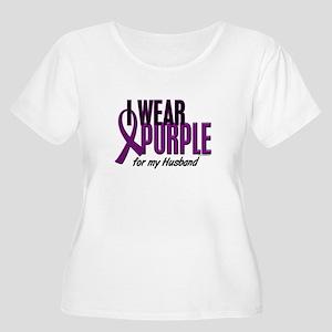 I Wear Purple For My Husband 10 Women's Plus Size