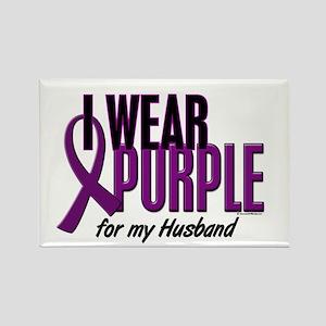 I Wear Purple For My Husband 10 Rectangle Magnet