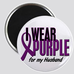I Wear Purple For My Husband 10 Magnet