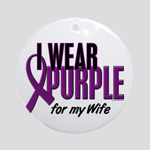 I Wear Purple For My Wife 10 Ornament (Round)