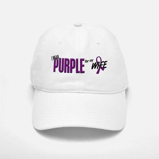 I Wear Purple For My Wife 10 Baseball Baseball Cap