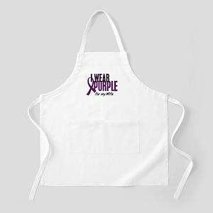 I Wear Purple For My Wife 10 BBQ Apron