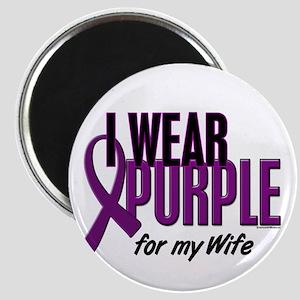 I Wear Purple For My Wife 10 Magnet
