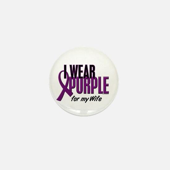 I Wear Purple For My Wife 10 Mini Button