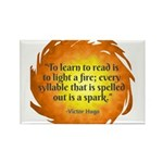 Victor Hugo Reading Quote Magnets
