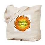 Victor Hugo Reading Quote Tote Bag
