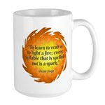 Victor Hugo Reading Quote Mugs