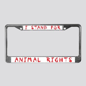 Animal Rights License Plate Frame