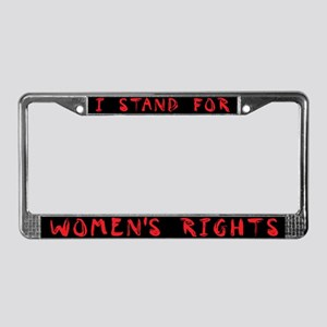 WOMEN'S RIGHTS License Plate Frame