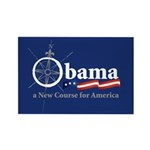 Obama Compass Rectangle Magnet (100 pack)