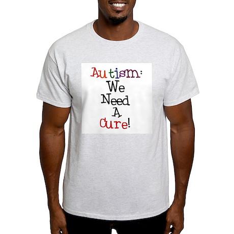 Autism Awareness Cure Ash Grey T-Shirt