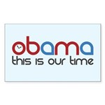 Obama Time Rectangle Sticker