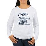 Vote 4 Obama Women's Long Sleeve T-Shirt