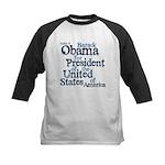 Vote 4 Obama Kids Baseball Jersey