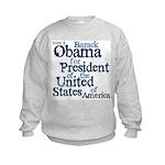 Vote 4 Obama Kids Sweatshirt