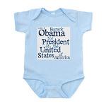 Vote 4 Obama Infant Bodysuit
