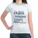 Vote 4 Obama Jr. Ringer T-Shirt