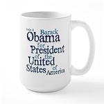 Vote 4 Obama Large Mug