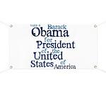 Vote 4 Obama Banner