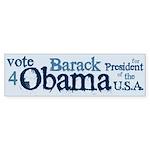 Vote 4 Obama Bumper Sticker