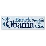 Vote 4 Obama Bumper Sticker (10 pk)
