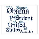 Vote 4 Obama Small Poster