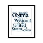 Vote 4 Obama Framed Panel Print