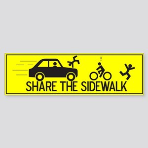 Share The Sidewalk Bumper Sticker