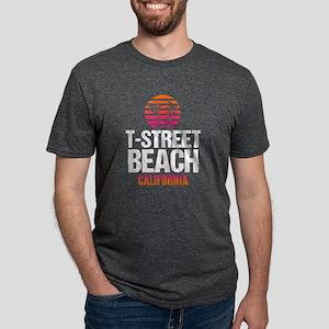 Sunset T Street Beach Mens Tri-blend T-Shirt