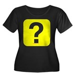 Question? Women's Plus Size Scoop Neck Dark T-Shir