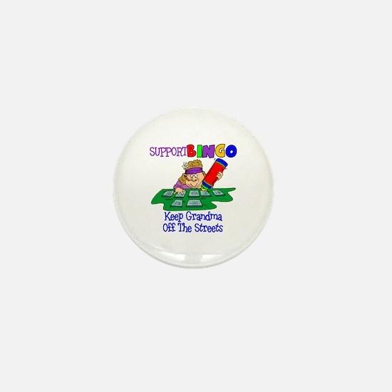 Support Bingo Funny Mini Button