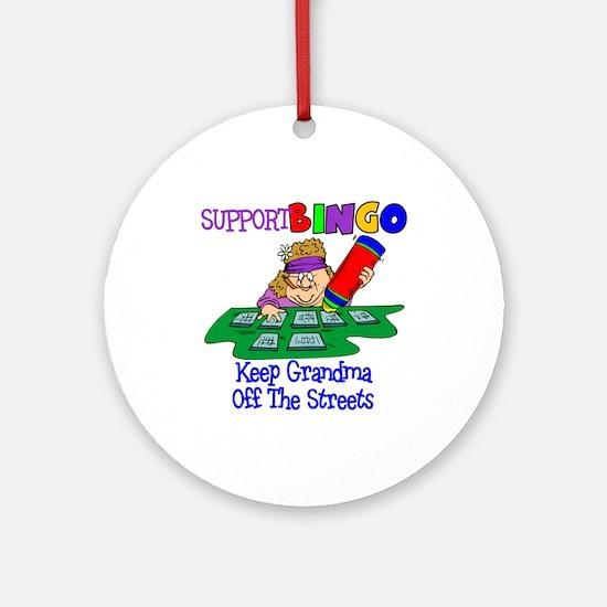Support Bingo Funny Ornament (Round)