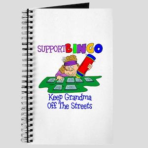 Support Bingo Funny Journal