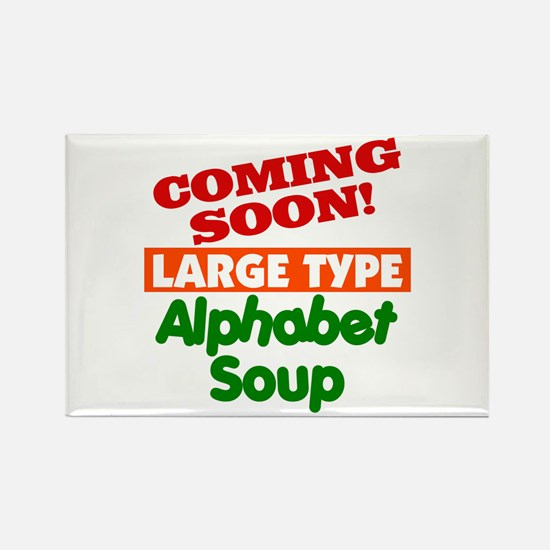 Large Type Alphabet Soup Rectangle Magnet