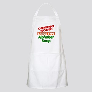 Large Type Alphabet Soup BBQ Apron
