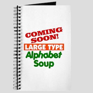 Large Type Alphabet Soup Journal