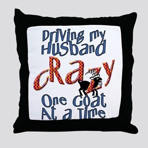 One Goat at a Time Throw Pillow