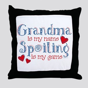 Spoiling Grandma Throw Pillow